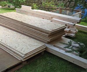 Bautagebuch Gartenhaus, Kapitel 3: Endlich Holz!