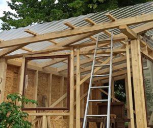 Bautagebuch Gartenhaus, Kapitel 5: Das Dach muss droff!