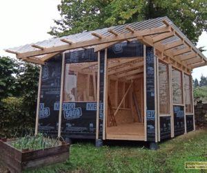 Bautagebuch Gartenhaus, Kapitel 8: Alles nur Fassade
